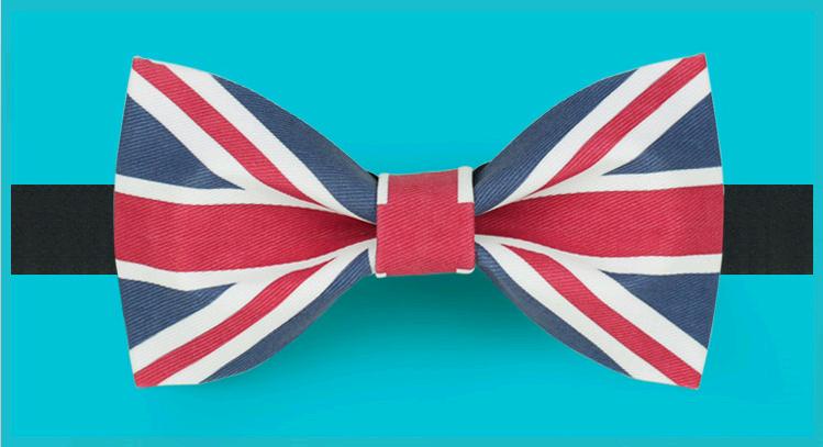 Original Design The Union Jack Britain Flag bow tie groom dress tuxedo silk bow tie elegant creative Valentine's wedding gift(China (Mainland))