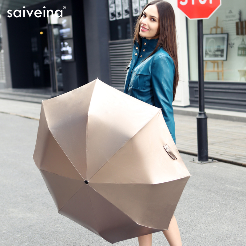 Saiveina Umbrella rain women Fully-automatic Umbrella Anti UV Parasol Ultral-Light 3 Folding Umbrella For Travel Meteor showers(China (Mainland))