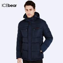 ICEbear 2016 Зимние куртки для мужчин Парка молодежная стильная Наполнитель куртки Био-Пух Теплый пальто и стильный жакет Пуховик капюшоном 16MD866 (China (Mainland))
