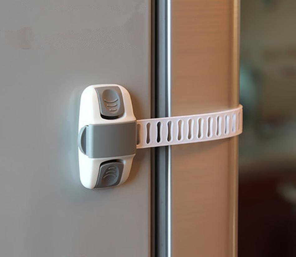 2 Pcs Baby Safety Care Lengthened Bendy Security Fridge Cabinet Door Locks Drawer Toilet Safety