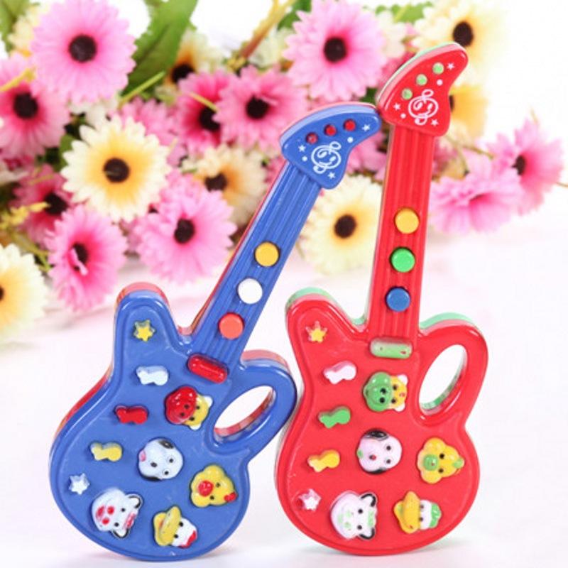 New Designer Children Electronic Guitar Toy Nursery Rhyme Music Children Baby Kids Toy Gift TC0407(China (Mainland))