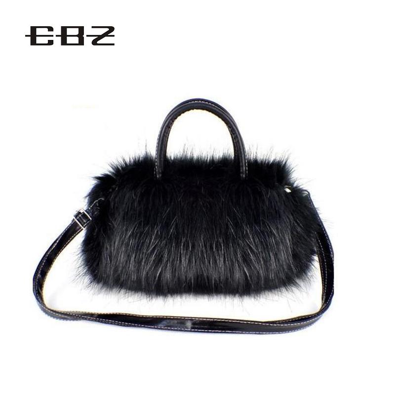 2016 New Fashion Brand Designer Party Ladies Shoulder Bag Fur Handbag Crossbody Tote Bags for Women Faux Fur Lady Handbags Totes(China (Mainland))