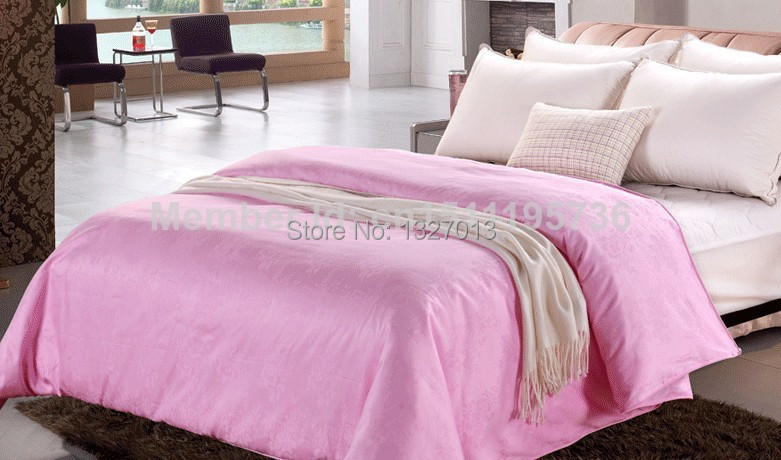 Fashion 100% Pure Mulberry Silk Quilt / comforter / Blanket Single / Double / Twin/ King / Full Size,3KG&Sum(China (Mainland))
