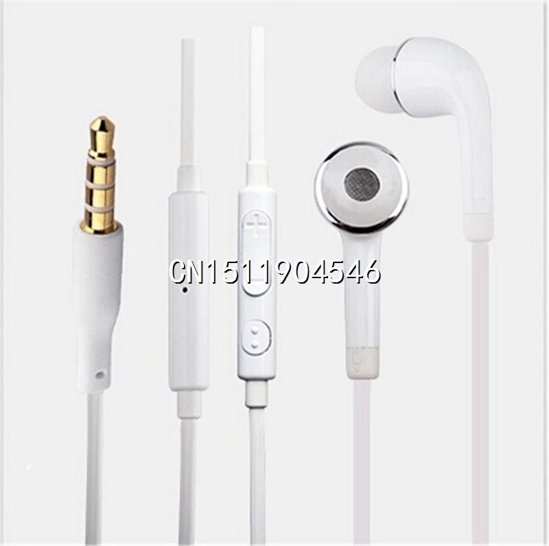 Brand New 3 5mm White Earphone Headphones Earpods With Volume Mic Earphones For Samsung Galaxy S4