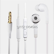 Brand New 3.5mm White Earphone Headphones Earpods With Volume&Mic Earphones For Samsung Galaxy S4 Mobile Phone Free shipping