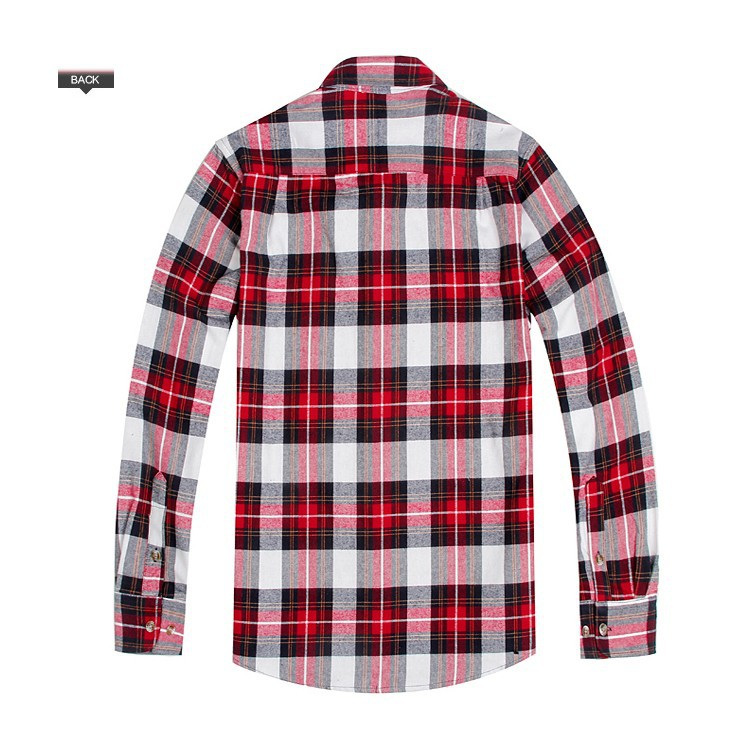Men's Long Sleeve Plaid Shirts Flannel (13)