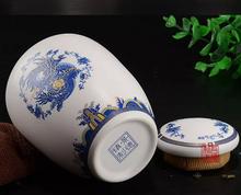 Jingdezhen large porcelain candy on glazed bone china storage ceramics 11 5 8cm tea caddy tea