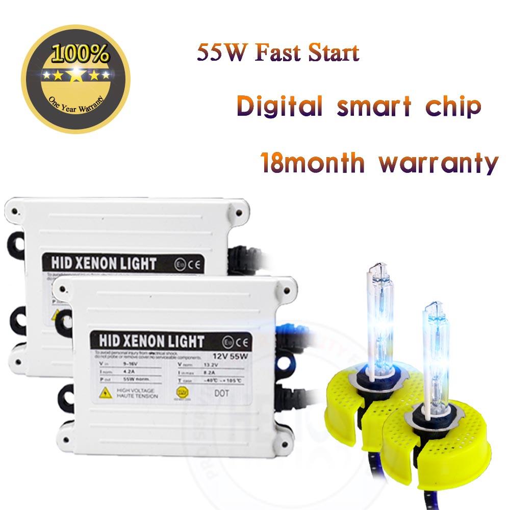 55W H1 hid xenon Kit fast start Car Headlight mini Ballast H11 h7 H9 H1 9006 Bulb 4300K 6000K 8000K 10000K 12000K 12V(China (Mainland))