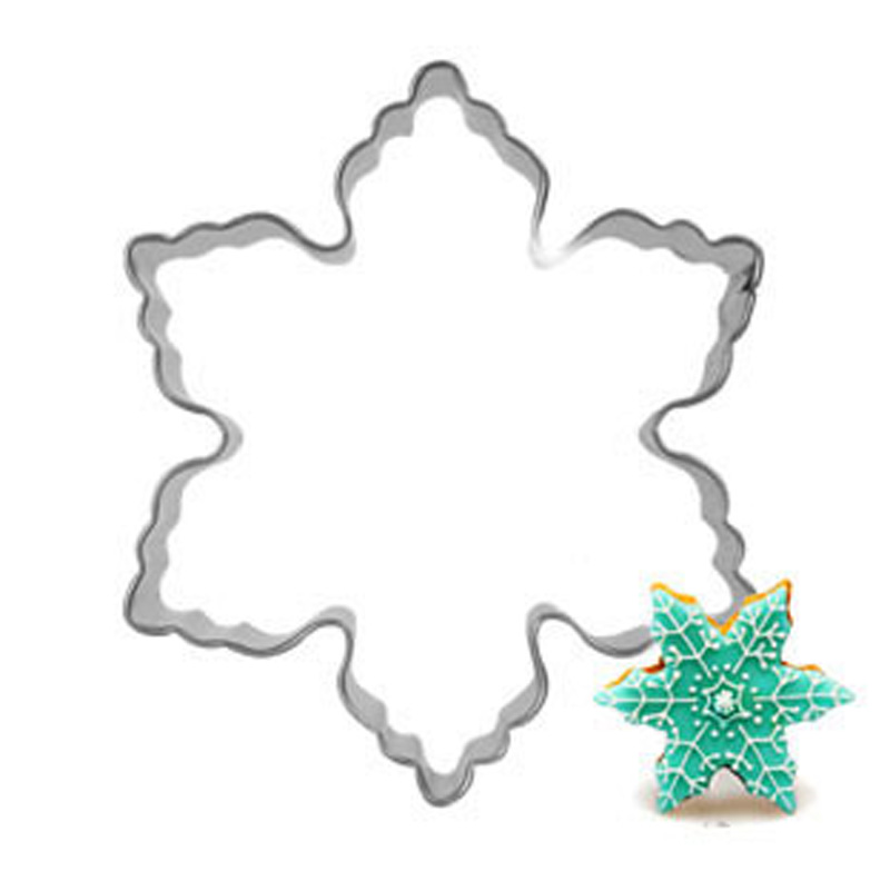 New 2015 Plaque Cutter Cookie mould Frame Cake Snowflake Stainless Steel Mold cake decorations tools(China (Mainland))