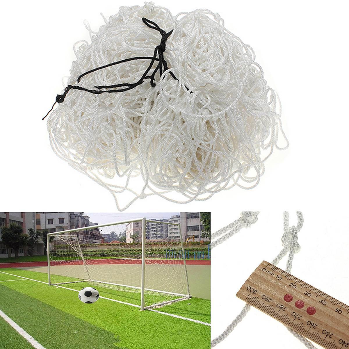 New Full Size 12x6ft 3.6x1.8m Football Soccer Goal Post Net Straight Flat Back Polypropylene Fiber(China (Mainland))