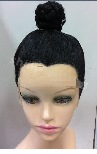 OLD CHINESE MAN TAOIST PRIEST WIG BLACK LACE FRONT COSPLAY  <br><br>Aliexpress