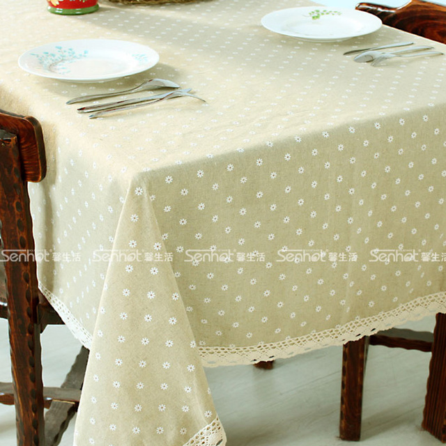 Daisied haircord lace table cloth rustic coffee table cloth round table dining table gremial tablecloth towel cover