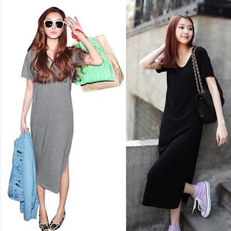 T shirt maxi dress length