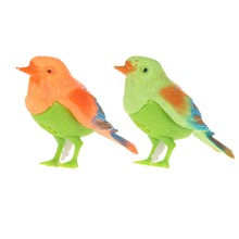 2015 Brand New Free Shipping Plastic Sound Voice Control Activate Chirping Singing Bird Funny Toy Gift  Toy Flying Bird(China (Mainland))