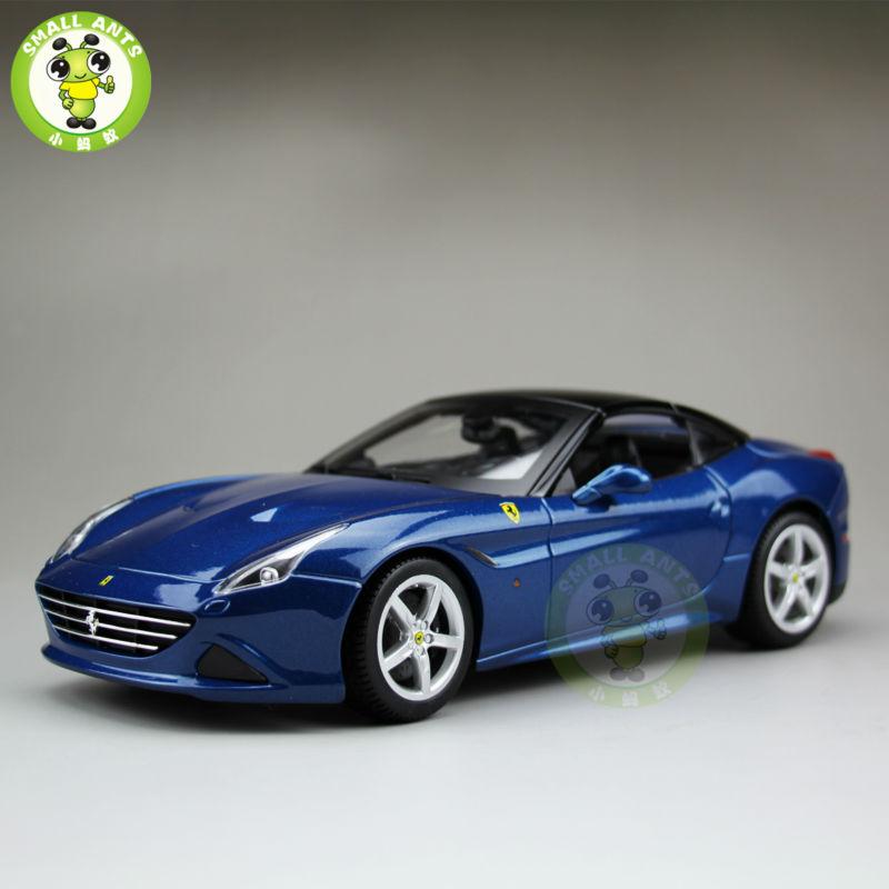 1:18 Scale Ferrar California T Diecast Metal Car Model Close Top Bburago BBU16003 Metal Blue(China (Mainland))