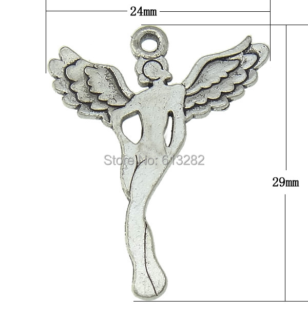 Free shipping!!!Character Shaped Zinc Alloy Pendants,Kawaii,, Angel, antique silver color plated, nickel, lead &amp; cadmium free<br>