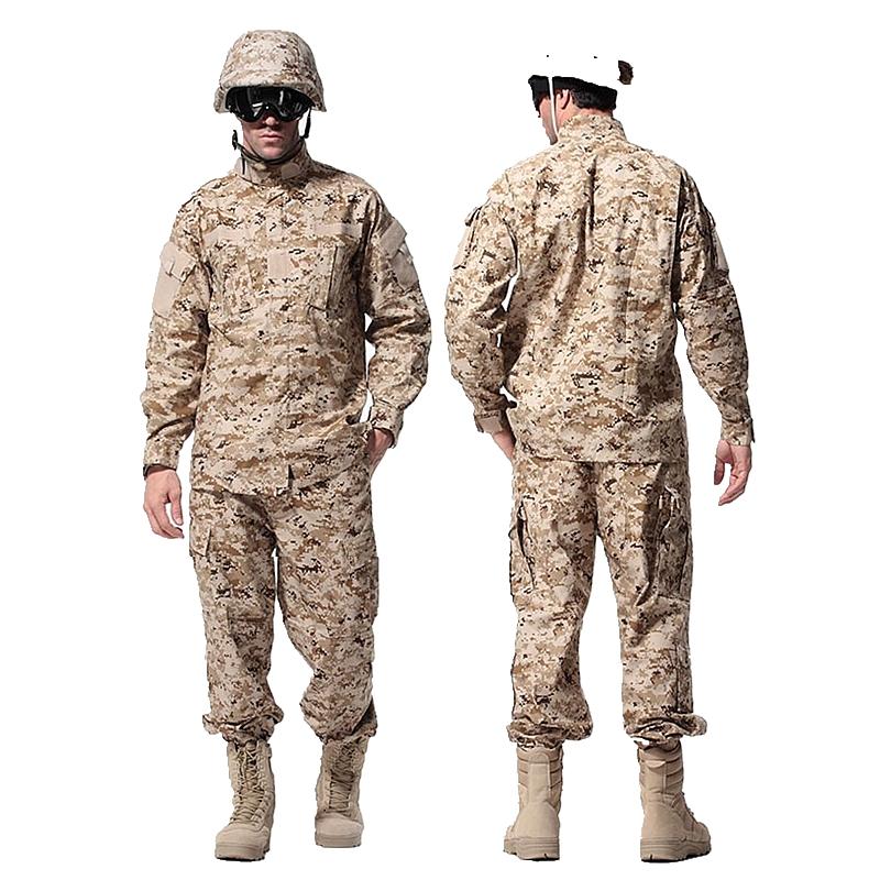 Army Desert Digital Camo military tactical uniform 1 set jacket + pants men shirt pants uniform outdoor hunting ghillie suits(China (Mainland))