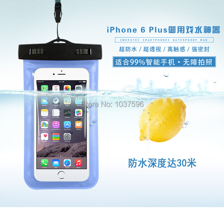 PVC Waterproof Phone Bag Case Underwater Pouch For Samsung galaxy For iphone All mobile phone Watch ect(China (Mainland))