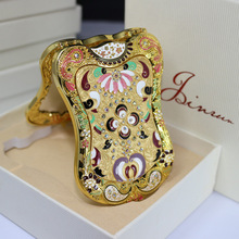 Cute shields Shaped Design Russian classical creative Makeup Mirror Lady Women Makeup Tool Pocket Mirror Home Office Use(China (Mainland))
