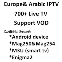 Best Europe IPTV Arabic France UK DE Spain  Italy Live TV Channels for Android M3u mag250 replace QHDTV NEO TV Leadtv 3 month(China (Mainland))