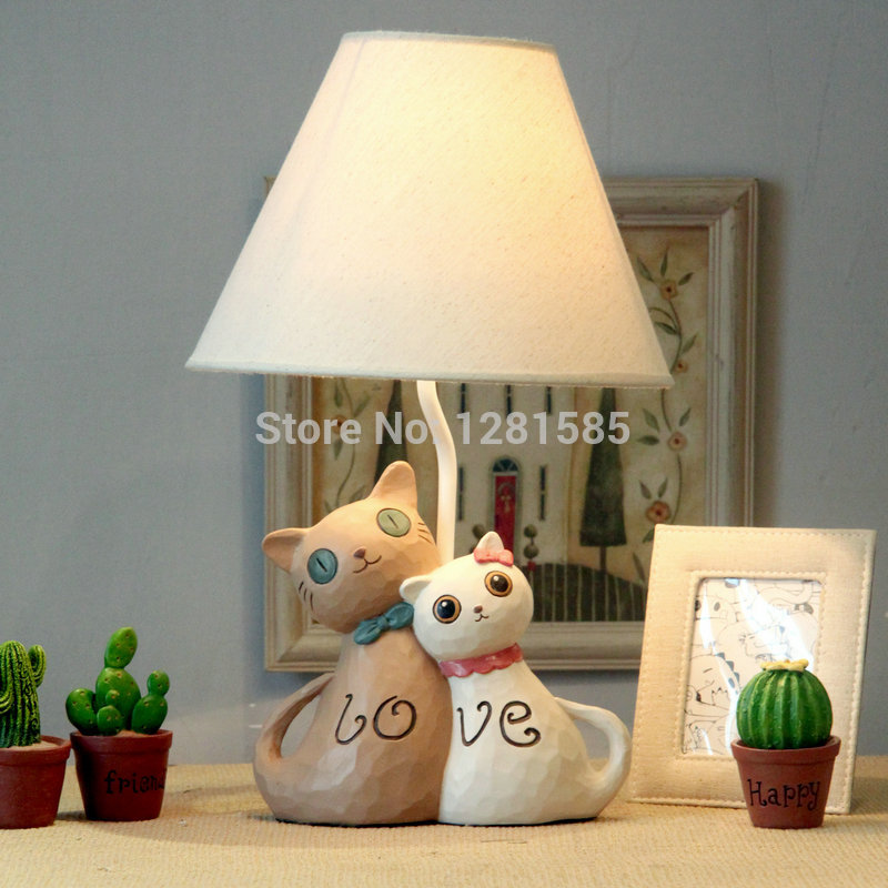 Table lamps Lovers cat style lamp for children bedroom ...
