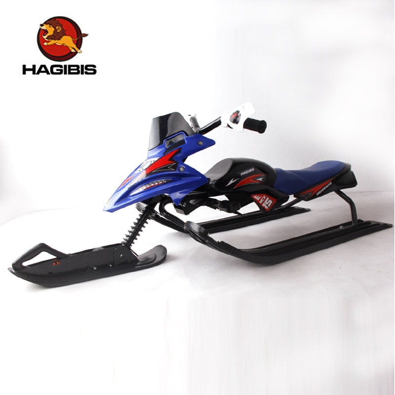 Hajibis snow scooter with safe brake, high carbon steel frame snow sled(China (Mainland))