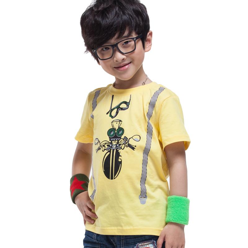 NEW boys t shrit spider funny image print kids shirt 100% cotton brand children summer clothing fashion(China (Mainland))
