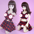 2016 NEW 100cm janpanse real doll cute girl silicone mini sex love doll oral vagina pussy