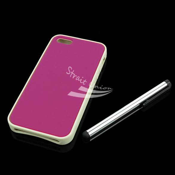 Pink Cell Phone Case Cover Skin Bag Accessory iPhone 5 +Screen Protector&Stylus - Zoe store