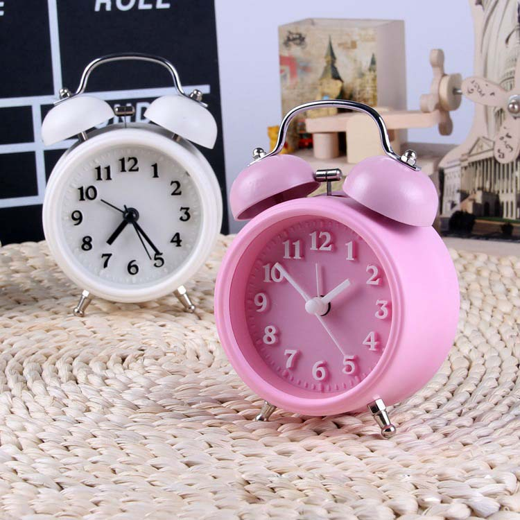 Factory Direct 3-inch bell metal bell alarm clock luminous silent clock creative promotional gifts(China (Mainland))