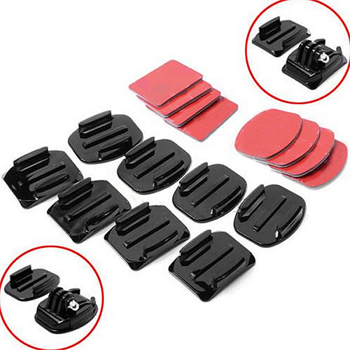 8 Pcs Flat Curved Adhesive Mount Helmet Accessories For Gopro Hero 1 2