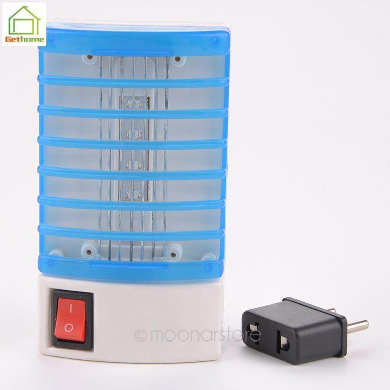 220 V EU Plug Mini lâmpada Mosquito levou Mosquito Repeller Mosquito - matar elétrica tomada Fly Bug Insect armadilha noite lâmpada Y60 * MPJ400(China (Mainland))