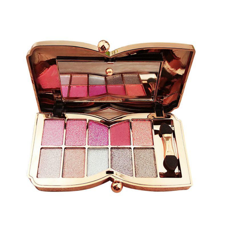 Shine Eye Shadow Palette Makeup Eyeshadow Cosmetic Brush Tools 10 Colors(China (Mainland))