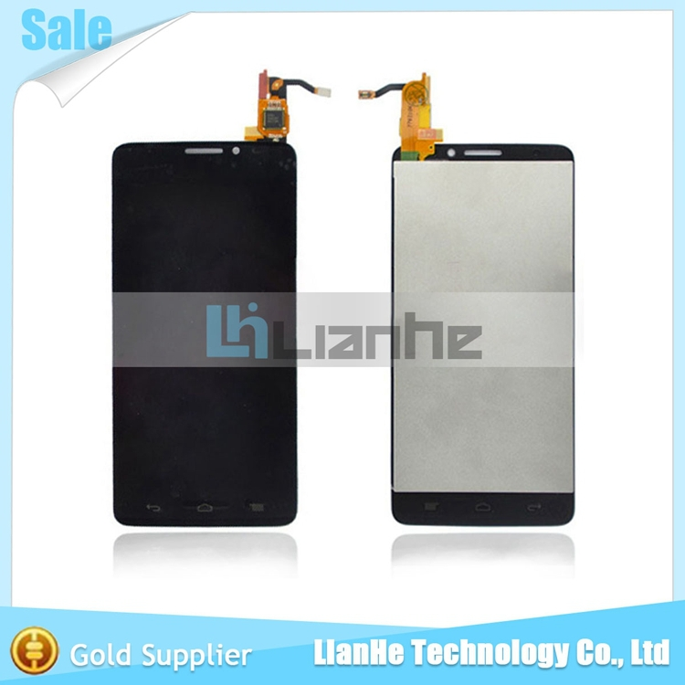 100% Original LCD Display + Digitizer Touch Panel For Alcatel One Touch Idol X OT6040 6040 6040D 6040E OT-6040D Free Shipping(China (Mainland))