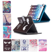 7 inch Universal case For Cube iwork 7/ Cube Talk 7X / Cube T7 folio tablet pu leather cover cases+screen protector