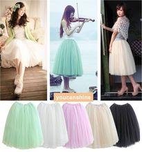 New Fashion Women's Girl Lady Ballet Dance Party Wedding Pettiskirt Bubble Long Tutu Skirt(China (Mainland))