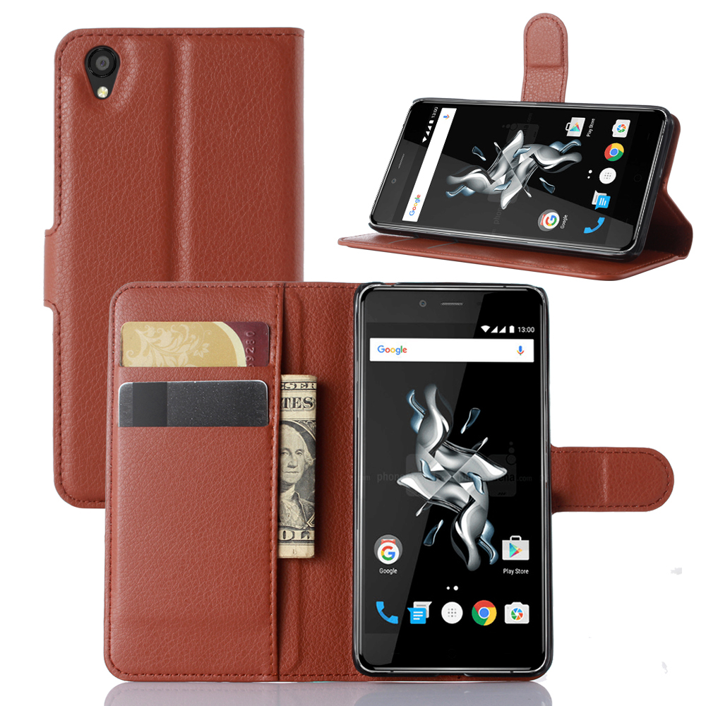 50 pieces/lot High quality flip leather cover OnePlus X Wallet Style case for OnePlus X cell phone case Wholesale retail(China (Mainland))