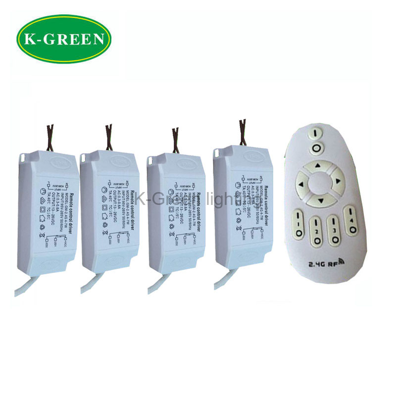 1X Hight quality AC95-265V 18-28W 2.4G RF wireless dimmable constant voltage led driver with led remote controller free shipping(China (Mainland))