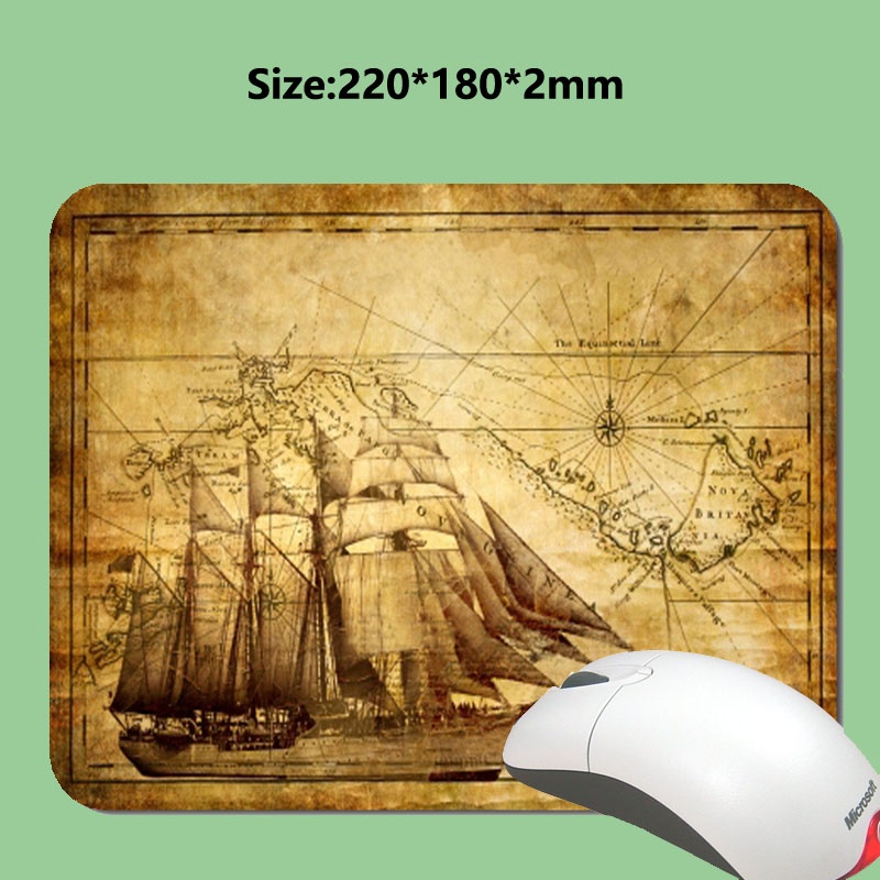 Custom sales 3D economic fast printing old map gaming rubber wallpaper durable notebook mouse pad in the office and home use(China (Mainland))