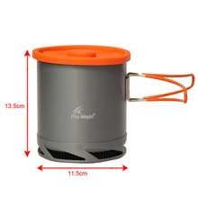 Hot Sale 1L Portable Heat Exchanger Pot Fire Maple FMC-XK6 Ultralight 190g Outdoor Camping Kettle Picnic Cookware Free Shipping