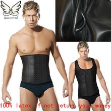 slimming vest waist training corsets for men corset waist training corsets hot body shapers waist trainer latex waist cincher(China (Mainland))