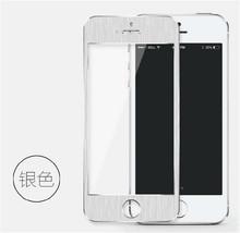2PCS/LOT HOT 3D Alloy Titanium Tempered Glass Film For Apple iPhone 5 5S Metal Screen Protector