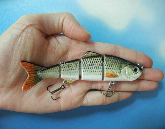 Buy free shipping lifelike 4 sections for Fish bait store