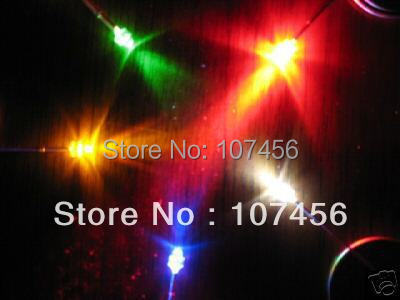 1000pcs 1.8mm red/yellow/blue/green/white Ultra Bright water clear green LED Lamps R/Y/B/G/W New free shipping(China (Mainland))