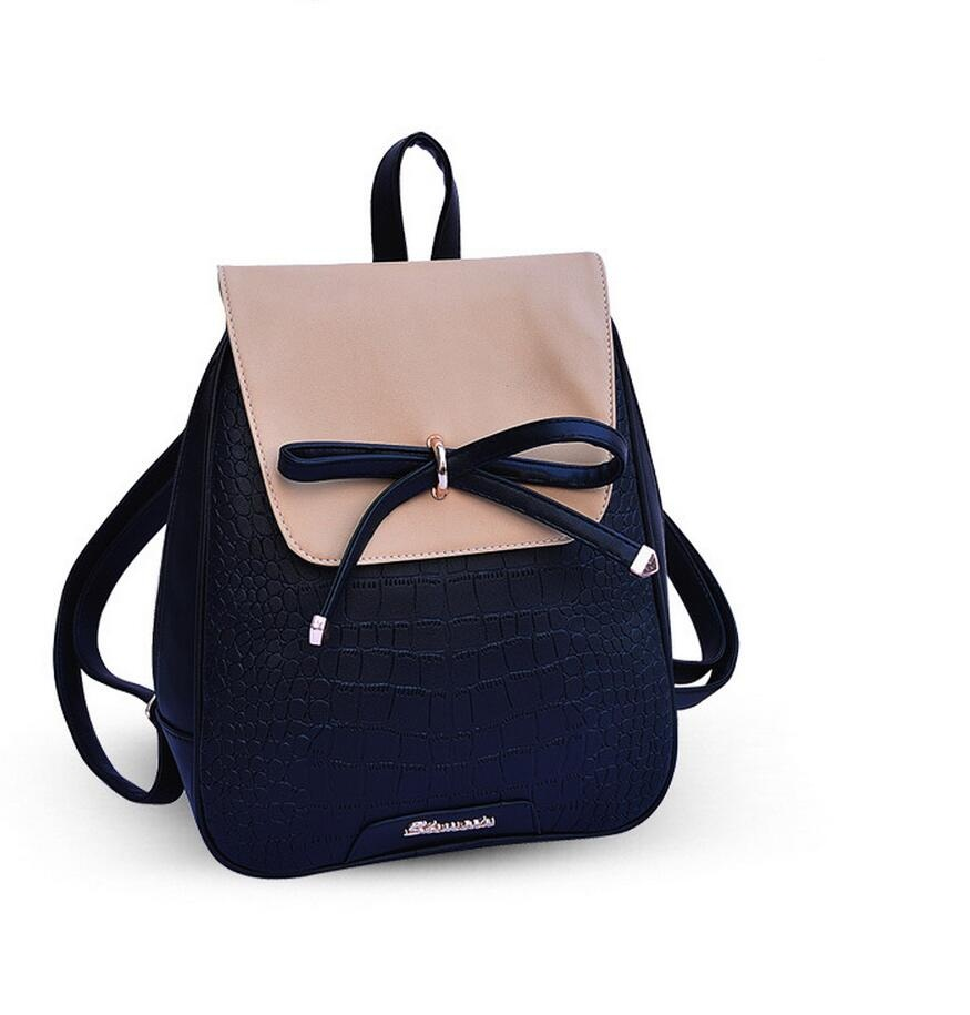 New 2016 Women Backpacks bow Brand pu leather Backpack travel hiking Bags high quality girls school bag for teenagers<br><br>Aliexpress