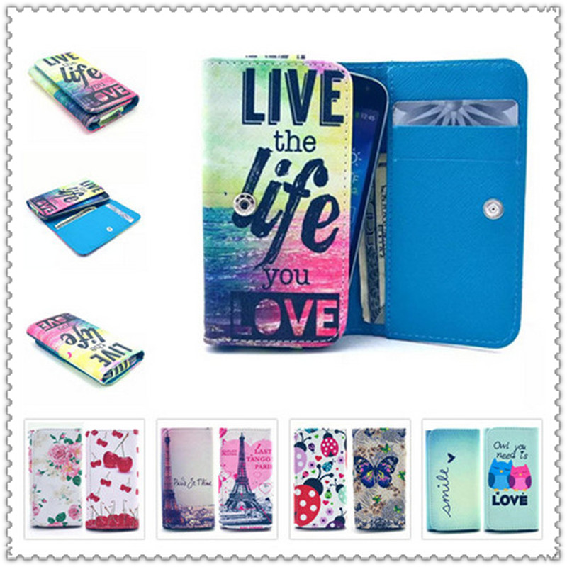 2016 Hot Sale PU Leather Protection Phone Case With 20 Painting And Card Wallet For Asus Live G500TG(China (Mainland))