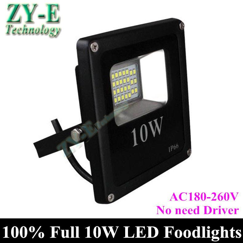 2pc 2015 New ! LED Flood Light 10W IP66 AC220V IC driver LED SMD 5730 Floodlight 100% full power Spotlight Outdoor free shipping(China (Mainland))