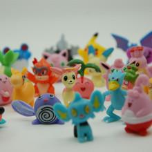 24 pcs/set Pokemon Action Figures Toys Cartoon Anime Mixed 2-3cm Mini Pokemon Figures Toys For Kids Gift(China (Mainland))