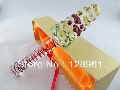 wholesale Big head crystal glass dildo drop shipping  GFG-S2246<br>