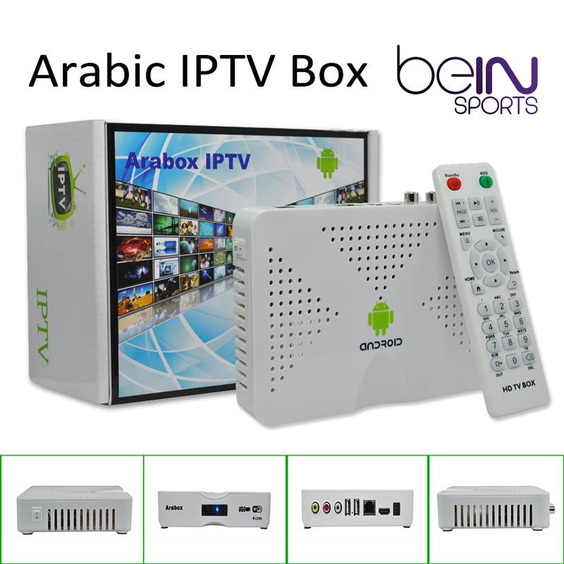 Best Arabic IPTV Box, Arabox 600 ,Free HD Arabic Channels BeIN Sports MBC OSN African Somali French Android 4.4 TV Box(China (Mainland))
